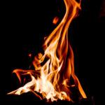 Coal fire Phoenix Coal Co. Vinita, OK